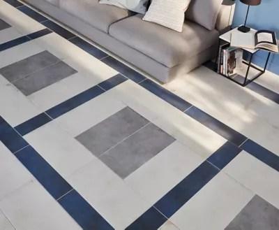 carrelage sol et mur bleu effet beton 15 2 x 61 5 cm extrema