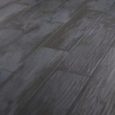 Carrelage Sol Noir 15 X 60 Cm Soft Wood Castorama