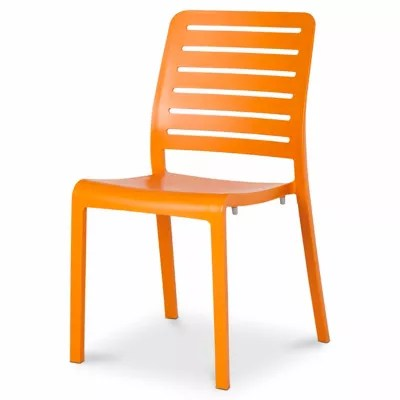 chaise de jardin en resine charlotte orange