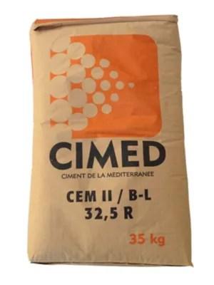 Ciment Gris Multi Usages Cimed Cemii B Ll32 5r 35 Kg Castorama
