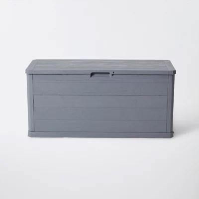 coffre de jardin toomax woody s gris 280 l