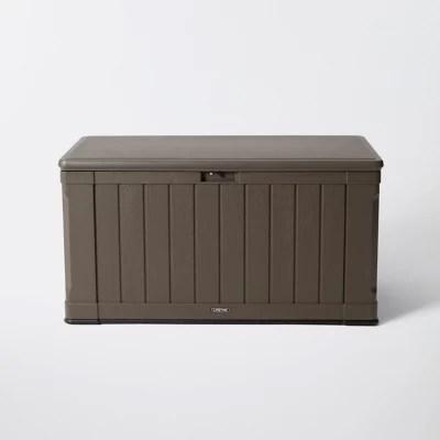 coffre de rangement resine lifetime coloris taupe 430 l