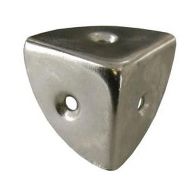 coin de caisse 3 faces diall en acier nickele l 30 mm 4 pieces