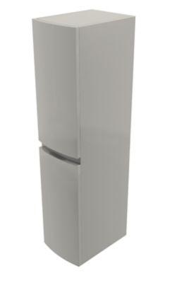 colonne de salle de bains cooke lewis gris clair vague 30 cm