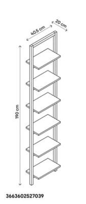 colonne de salle de bains goodhome nantua faible profondeur l 40 x h 190 x p 20 cm