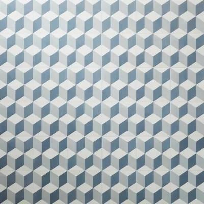 dalle pvc adhesive carreaux de ciment bleus poprock 30 x 30 cm vendue au carton