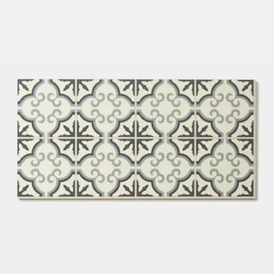 dalle pvc clipsable carreaux de ciment flower jazy 30 x 60 cm vendue au carton