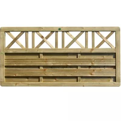 demi panneau bois inyo l 180 x h 90 cm