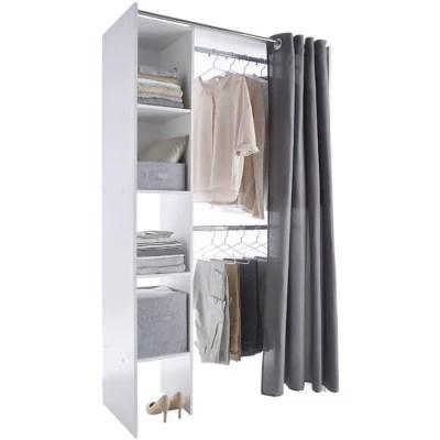 dressing tout en un blanc avec rideau