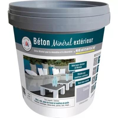 enduit beton mineral exterieur resinence cendre mat 4kg