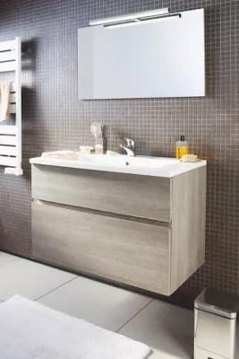 ensemble de salle de bains calao 90 cm clair plan vasque en resine