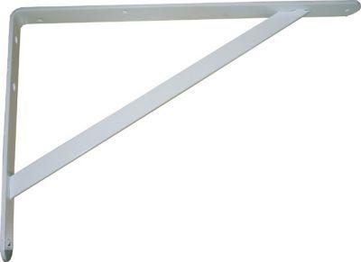 equerre lourde charge acier epoxy blanc 25 x 40 cm