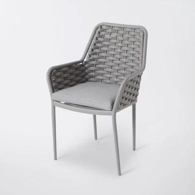 fauteuil de jardin aluminium blooma mayotte gris