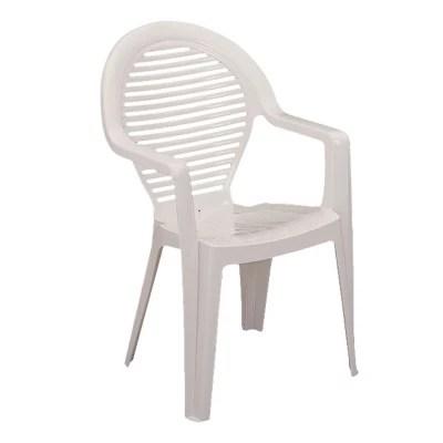 fauteuil de jardin en resine manoa blanc