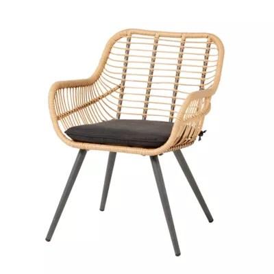 fauteuil de jardin goodhome apolima effet rotin marron