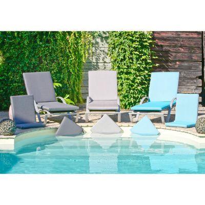 galette de chaise carree aqua bleu chine 42 x 42 cm