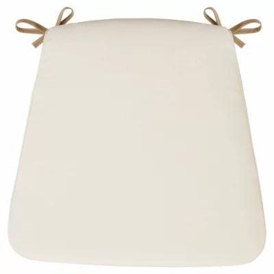 galette de chaise carree sofia ecru 41 x 30 cm