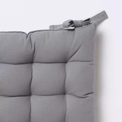 galette de chaise goodhome hiva gris 45 x 45 cm