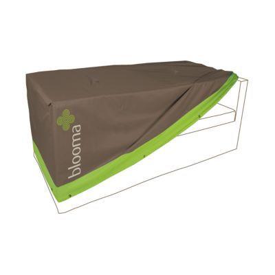 housse de protection canape blooma taupe et vert 200 x 85 x 60 cm