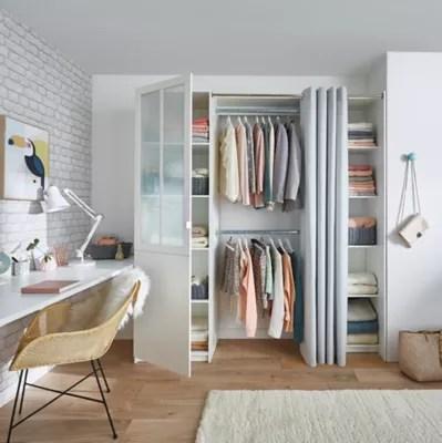 kit dressing atelier coloris blanc h 218 cm x l 200 cm x p 50 cm