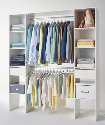 kit dressing coloris blanc h 200 x l 180 x p 40 cm