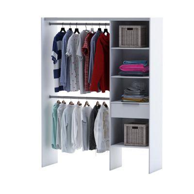 kit dressing compoz coloris blanc h 203 x l 120 x p 50 cm