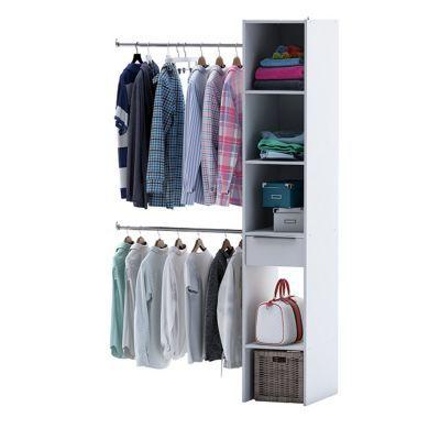kit dressing organiz coloris blanc h 203 x l 120 x p 50 cm