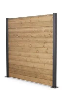 lame de cloture bois neva 180 x 14 5 cm