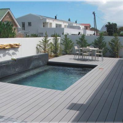 lame terrasse composite greendeck r gris l 260 x l 14 6 cm