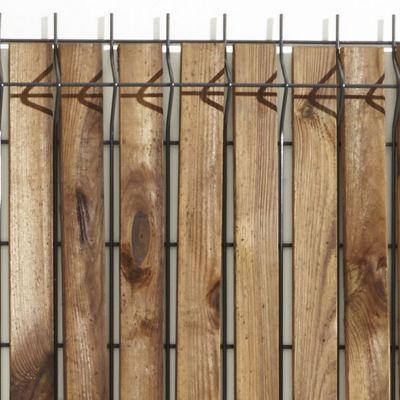 lames d occultation pour grillage soude bois blooma x 40 h 120 cm