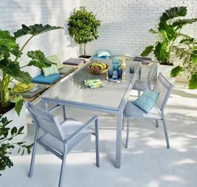 lot table de jardin verena 4 chaises de jardin 2 fauteuils de jardin