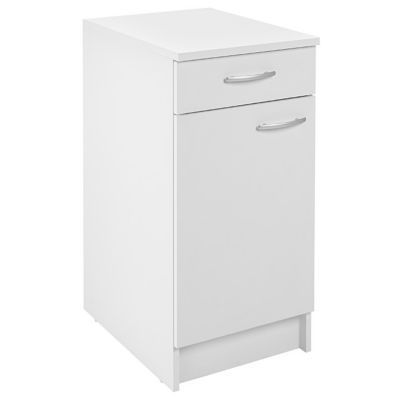 meuble bas 1 porte 1 tiroir blanc primalight 40 cm plan de travail