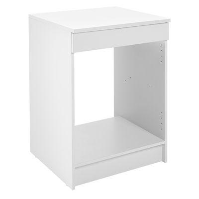 meuble bas four blanc primalight 60 cm plan de travail