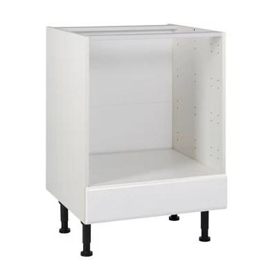 meuble de cuisine globe blanc facade bandeau four tiroir four caisson bas l 60 cm