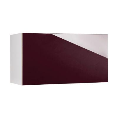 meuble de cuisine gossip aubergine facade 1 porte relevante sur hotte caisson haut l 80 cm