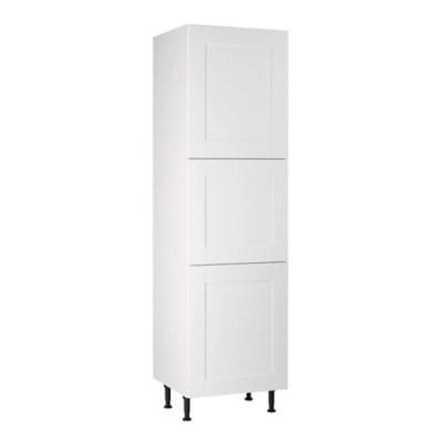 meuble de cuisine kadral blanc 3 facades caisson colonne l 60 cm