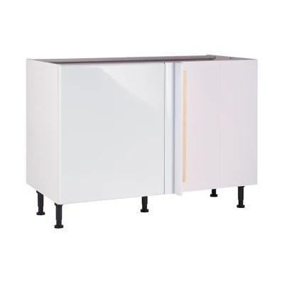 meuble de cuisine sixties blanc d angle facade 1 porte kit fileur caisson bas l 60 cm