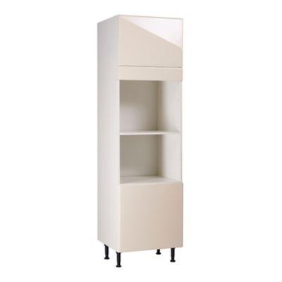 meuble de cuisine sixties creme facades 2 portes bandeau four caisson colonne l 60 cm