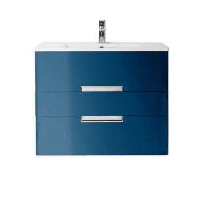 Meuble De Salle De Bains Bleu Comete Decotec Belt 80 Cm Castorama