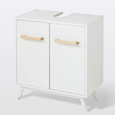 meuble sous lavabo a poser goodhome ladoga l 60 x h 65 x p 36 cm