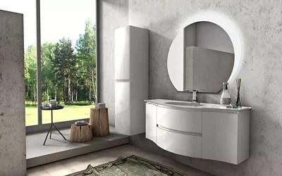 meuble sous vasque cooke lewis blanc vague 138 cm complement gauche et droit plan vasque en verre