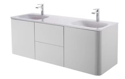 meuble sous vasque gris cooke lewis ceylan 140 cm