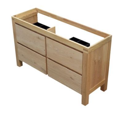 meuble sous vasque a poser cooke lewis harmon chene massif 140 cm