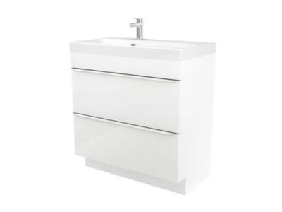 meuble sous vasque a poser goodhome imandra blanc 80 cm