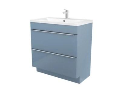 meuble sous vasque a poser goodhome imandra bleu 80 cm