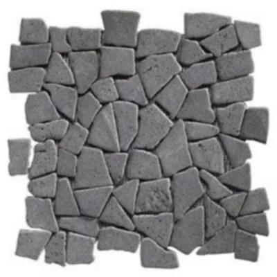 mosaique galets plats noir 32 x 32 swabina marbre
