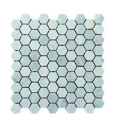 mosaique pierre hexagonal 30x30 cuma