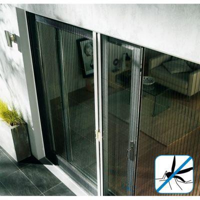 Moustiquaire De Porte Plissee En Alu Blanc Kocoon 120 X H 220 Cm Castorama