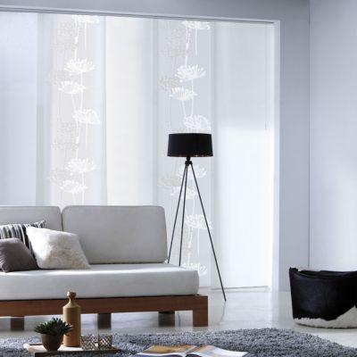 panneau japonais madeco surro devore blanc 45 x 260 cm