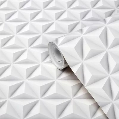 papier peint intisse goodhome onagre blanc 53 cm